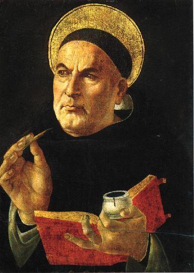 توماس آکویناس قدیس، کشیش، فیلسوف و متأله ایتالیایی قرن ۱۳ میلادی یکی از اندیشمندان سرآمد دوران مدرسی است که نظراتش دربارهی متافیزیک، اخلاق و الهیات طبیعی باعث شکلگیری مکتب تومیسم شد. از نظرات آکویناس، به خصوص آرای وی دربارهی اخلاق، در دورهی مدرن استفادههای زیادی شد.
