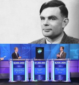 """آلن تورینگ، فیلسوف، ریاضیدان، رمزنگار بریتانیایی که به عنوان پدر هوش مصنوعی شناخته میشود، برای سنجش هوشمندی و آگاهی یک ماشین و تشخیص تمایز آن با یک """"انسان""""، آزمونی طرح میکند که محوریتش با """"واکنشهای زبانی"""" ماشینِ مورد آزمایش است. به طور مثال در مسابقهی تلوزیونی جئوپاردی، ابر کامپیوتر واتسون میتواند """"هوشمندانه"""" به پرسشها پاسخ دهد اما هیچوقت نسبت به پیروزی و شکستش احساس پیدا نمیکند و در نتیجه واکنشهای زبانی یکسانی با انسانها ندارد. به همین دلیل است که """"واتسون"""" را نمیتواند همچون انسانها، آگاه دانست."""