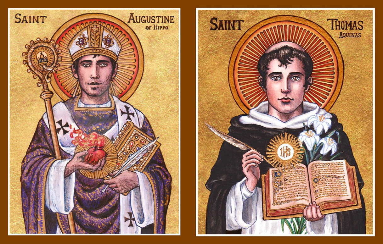 st. augustine of hippo and st. thomas aquinas