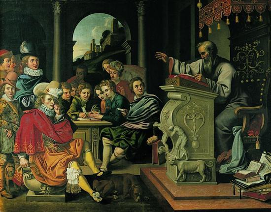 رتوریک در یونان باستان به معنی فن سخنوری و متقاعد کردن مخاطب بوده است. این عبارت در اصل به معنی «هنر سخنوری قانعکننده» است که هدفش همواره تاثیر بر مخاطب است. ارسطو در رسالهی شعر با عنوان «فن خطابه» برای اولین بار این مفهوم را تحلیل کرده و سه جز برای آن قائل شد: اتوس، پاتوس و لوگوس. ارسطو در رسالهی شعر میگوید: «تمام اموری که بیان آنها محتاج به گفتار است تعلق به اندیشه دارد و اقسام این امور عبارتاند از اثبات امری، رد کردن امری، برانگیختن بعضی از احوالات و انفعالات مثل شفقت، ترس، خشم و امثال آن، همچنین امری خرد را بزرگ جلوه دادن و امری بزرگ یا خرد جلوه دادن.»