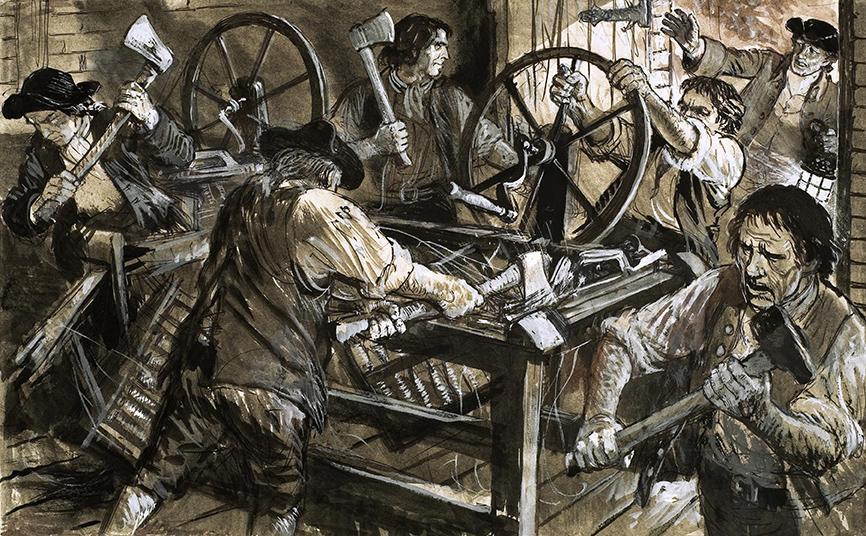 لادیسم یک جنبش اجتماعی از صنعتگران نساجی بریتانیا در قرن نوزدهم بود که عمدتاً با تخریب ماشینآلات بافندگی، در برابر تغییراتی که بر اثر انقلاب صنعتی ایجاد شده بود، اعتراض کردند، چراکه آنها احساس کرده بودند که این تغییرات باعث از دست رفتن شغلشان میشود و تمامی شیوههای زندگی آنان را تغییر خواهد داد. به این جنبش تاریخی در انگلستان باید در زمینهی حالوهوای دوران سخت اقتصادی حاصل از جنگهای ناپلئونی، و اهانتآمیز بودنِ شرایط کار در کارخانههای نساجی جدید نگریست. اصطلاح «لادایت» Luddite از آن به بعد، برای توصیف کسانی که با صنعتیشدن و یا فناوریهای جدید مخالفت میکنند، استفاده شده است. جنبش لادایت، که در سال ۱۸۱۱ و ۱۸۱۲ م، هنگامی که چرخها و قطعات ماشینآلات کارخانه بافندگی توسط بافندگان دستباف [بافندگانی که قبل از مکانیزهشدن کارخانه با دست بافندگی میکردند] سوزانیده شد، آغاز گردید، نام خود را از پادشاه افسانهای «لاد» Ludd گرفته است.