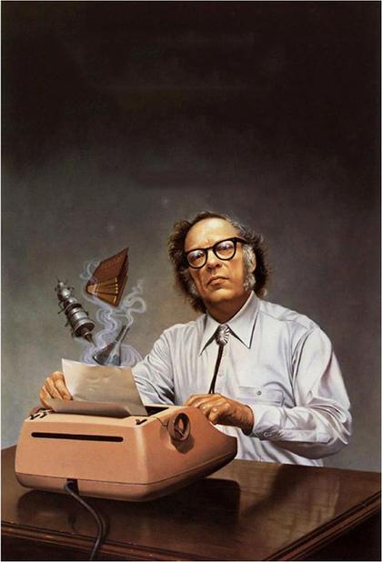 1.آیزاک آسیموف (1920- 1992م)، نویسندهی آمریکایی روسیتبار ژانر علمی-تخیلی، خیالپردازی و وحشت است. همچنین او دکتر بیوشیمیست. شهرت اصلی او به خاطر مجموعهی بنیاد است که مجموعهای هفتجلدیست که بهعنوان مشهورترین مجموعهی علمی-تخیلی شناخته میشود. داستان این مجموعه به ترتیب زمان انتشار پیش نمیرود. علاوه بر این مجموعه، آسیموف به خاطر قوانین سهگانهی رباتیک نیز از شهرت جهانی برخوردار است و همچنین دانشنامهی بریتانیکا او را واضع واژهی رباتیک در زبان انگلیسی میداند.