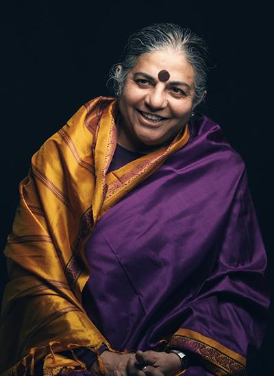شیوا: واندانا شیوا دانشمند، فعال محیطزیست و نویسندهی مخالف جهانیسازیست. او در سال۱۹۵۲ م، در هند متولد شد و تاکنون بیش از بیست کتاب در زمینهی فعالیتش تألیف کرده است. واندانا از اعضای اصلی انجمن اتحاد جهانی با نام alter-globalization است و بر گسترش ارزشهای سنتی فرهنگهای گوناگون تأکید دارد.